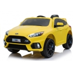 Electric Car Ford Focus RS (Yellow) Soft EVA Wheels / Leather seat (painted)