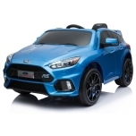 Electric Car Ford Focus RS (blue) Soft EVA Wheels / Leather seat (painted)
