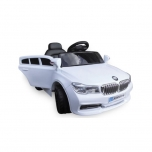 Elektriauto BMW X5 replica (valge) - pehmete rataste ja nahkistmega