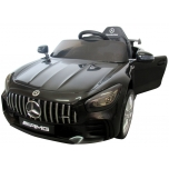 Electrical car for children Mercedes GTR Black, leather seat, soft wheels