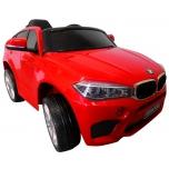 Elektriauto BMW X6M (Punane) - pehmete rataste ja nahkistmega