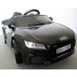 Electrical car Audi TT RS (Black) - soft wheels, leather seat