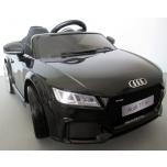 Электромобиль Audi TT RS (черный) - с мягкими колесами и кожаным сиденьем