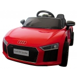 Electrical car Audi R8 Spyder (Red) - Soft wheels, leather seat