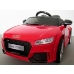 Electrical car Audi TT RS (Red) - Soft wheels, leather seat