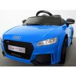 Electrical car Audi TT RS (Blue) - soft wheels, leather seat