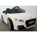 Электромобиль Audi TT RS (белый) - с мягкими колесами и кожаным сиденьем